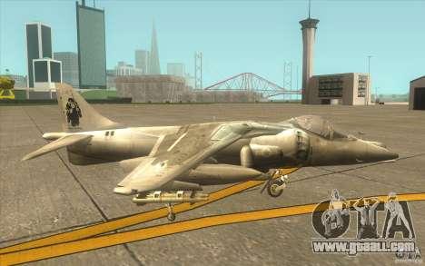 Harrier GR7 for GTA San Andreas back left view