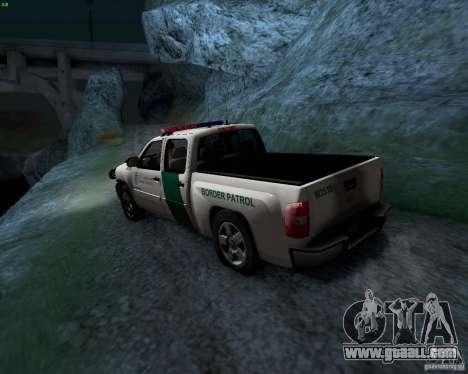 Chevrolet Silverado Police for GTA San Andreas back view