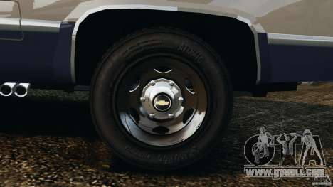 Chevrolet Silverado 1986 for GTA 4 upper view