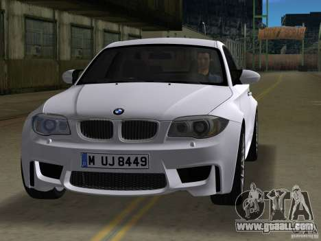 BMW 1M Coupe RHD for GTA Vice City left view