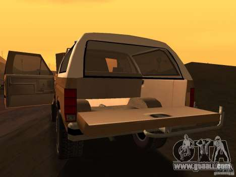 Ford Bronco 1985 for GTA San Andreas right view