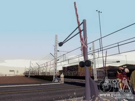 RAILWAY crossing RUS V 2.0 for GTA San Andreas second screenshot