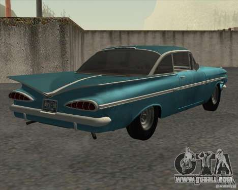 Chevrolet Impala Coupe 1959 Used for GTA San Andreas back left view