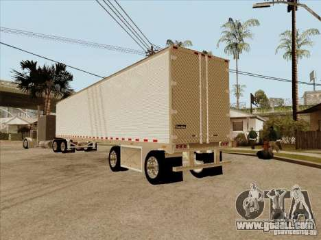 Trailer, Peterbilt 379 Custom for GTA San Andreas back view