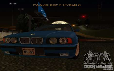 BMW 525 E34 V.3 for GTA San Andreas back view