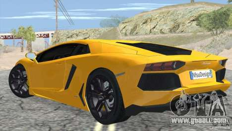Lamborghini Aventador LP700-4 2012 for GTA San Andreas right view