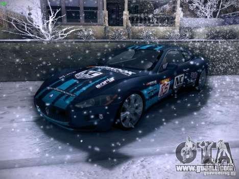 Maserati Gran Turismo S 2011 V2 for GTA San Andreas upper view