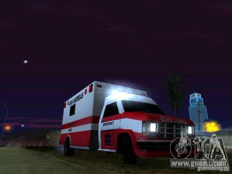 Ambulance 1987 San Andreas for GTA San Andreas engine