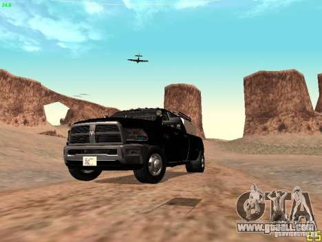Dodge Ram 3500 Unmarked for GTA San Andreas upper view