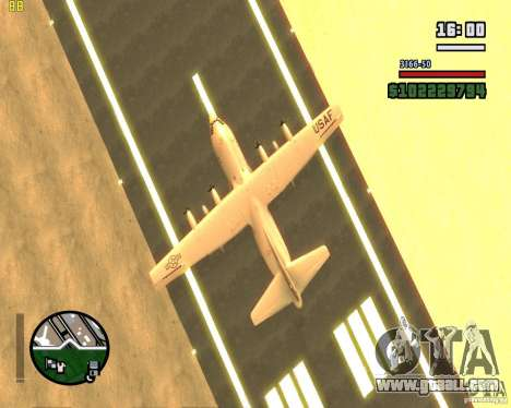 C-130 hercules for GTA San Andreas inner view