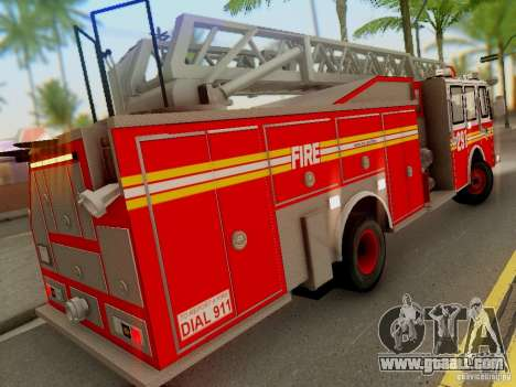 E-One FDNY Ladder 291 for GTA San Andreas back view