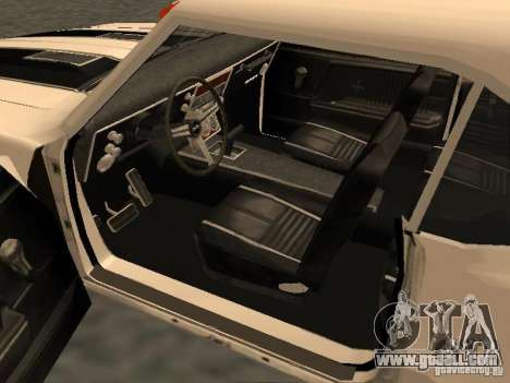 Chevrolet Camaro SS 396 Turbo-Jet for GTA San Andreas inner view