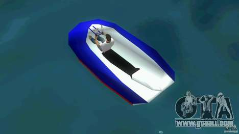 Speedboat dinghy for GTA Vice City back left view