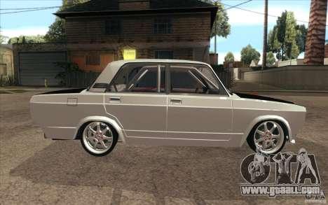 Vaz Lada 2107 Drift for GTA San Andreas inner view