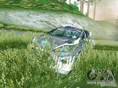 Ford Fiesta Ken Block Dirt 3 for GTA San Andreas back view