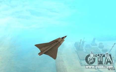 Saab J-35 Draken for GTA San Andreas back left view
