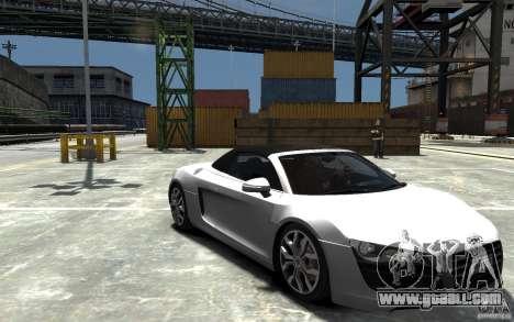 Audi R8 Spyder 5.2 FSI Quattro V4 [EPM] for GTA 4 upper view