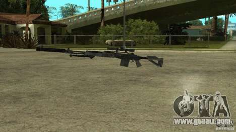 MK14 EBR with a silencer for GTA San Andreas third screenshot