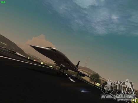 Aerospatiale-BAC Concorde Air France for GTA San Andreas left view