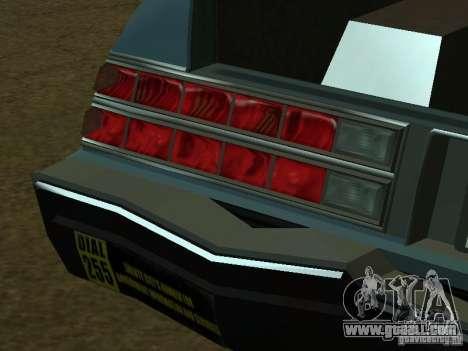 The Romans taxi of GTA4 for GTA San Andreas interior