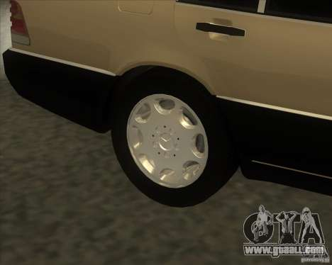 Mercedes Benz 400 SE W140 (Wheels style 2) for GTA San Andreas right view