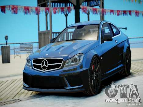 Mercedes-Benz C63 AMG Black Series 2012 v1.0 for GTA 4 left view