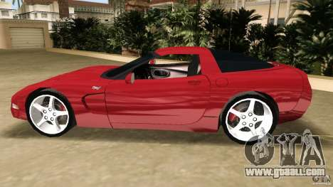 Chevrolet Corvette Z05 for GTA Vice City inner view