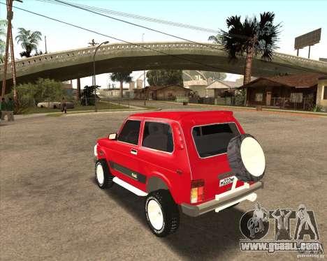 VAZ 21213 4 x 4 for GTA San Andreas interior