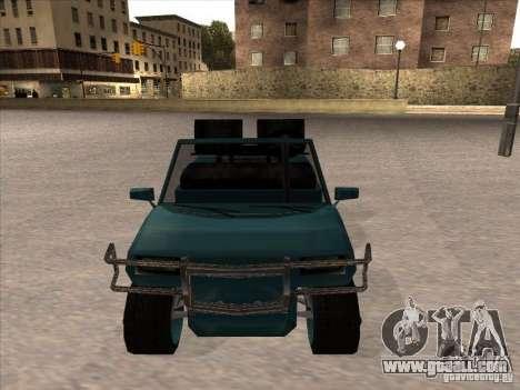 Small Cabrio for GTA San Andreas back left view