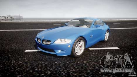 BMW Z4 Coupe v1.0 for GTA 4 back view