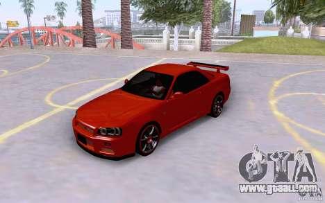 Nissan Skyline R34 GT-R for GTA San Andreas