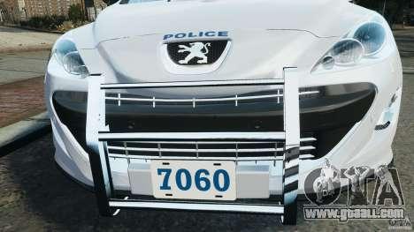 Peugeot 308 GTi 2011 Police v1.1 for GTA 4 wheels