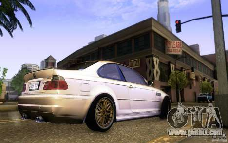 BMW M3 E46 for GTA San Andreas back view