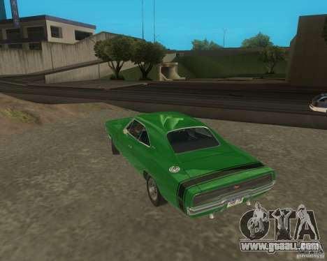 Dodge Charger for GTA San Andreas back left view