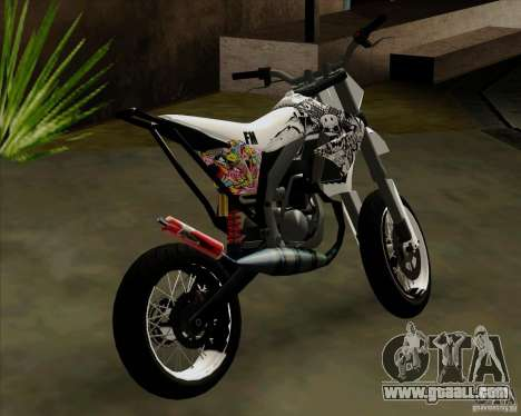 Honda 50 Tuned Stunt for GTA San Andreas back left view