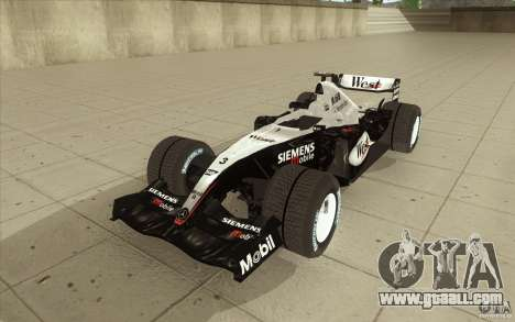 McLaren Mercedes MP 4-19 for GTA San Andreas