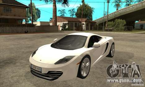 McLaren MP4 12c for GTA San Andreas