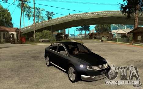 Volkswagen Passat 2.0 TDI Bluemotion 2011 for GTA San Andreas back view