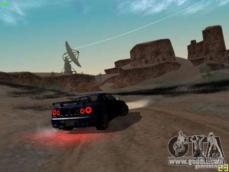 Nissan Skyline GT-R R34 V-Spec for GTA San Andreas back view
