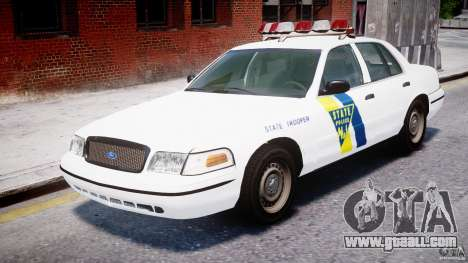 Ford Crown Victoria New Jersey State Police for GTA 4 left view