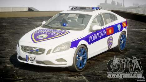 Volvo S60 Macedonian Police [ELS] for GTA 4