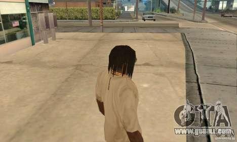 Long dark hair for GTA San Andreas second screenshot