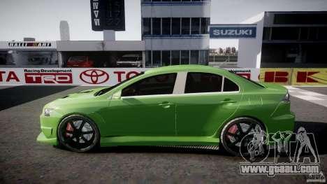 Mitsubishi Lancer Evolution X Tuning for GTA 4 upper view