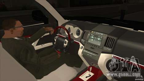 Lexus LX 570 for GTA San Andreas inner view