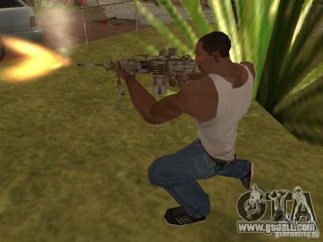 Machine gun MK-48 for GTA San Andreas fifth screenshot