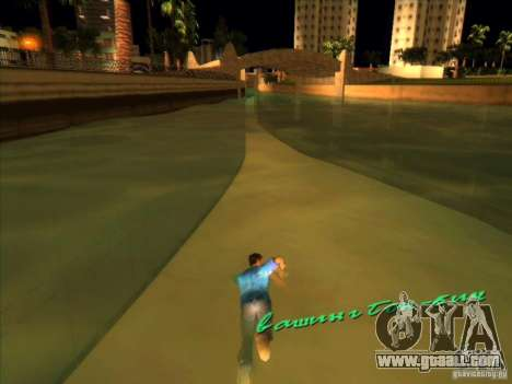 Swimming with the new animation for GTA Vice City second screenshot
