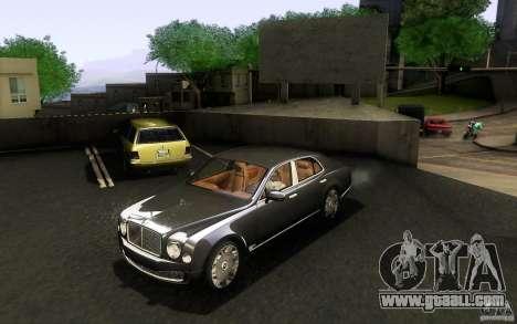 Bentley Mulsanne 2010 v1.0 for GTA San Andreas left view