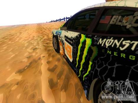 Ford Fiesta RS WRC 2012 for GTA San Andreas inner view