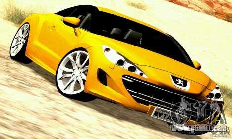 Peugeot Rcz 2011 for GTA San Andreas