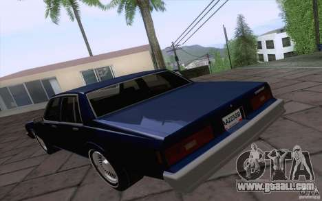 Chevrolet Caprice Clasico for GTA San Andreas back left view